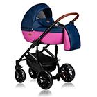 Детская коляска MaEma Jess 2 в 1 цвет Double Blue