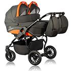 Детская коляска для двойни MaEma Lika Twin 2 в 1 цвет L1